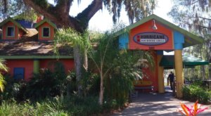 Dine Under A Giant Tropical Tiki Hut At Hurricane Dockside Grill In Florida
