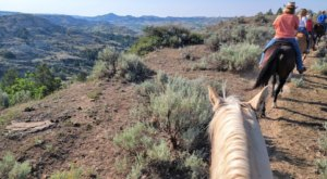 Take A Scenic Trail Ride Through The Badlands At The Medora Riding Stables In North Dakota