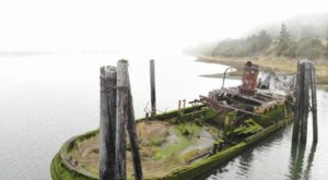 There's A Shipwreck Ruin From 1880 With Well-Preserved Artifacts At This Beach In Oregon