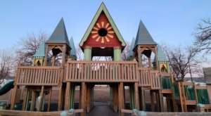 Kids Will Love Exploring Sherlock Forest Park, A Castle Playground In Minnesota That Comes Complete With A Dragon