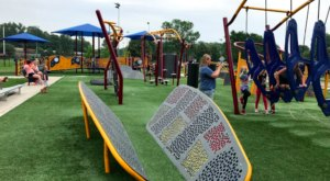 Kids Will Love Testing Their Skills At Schaper Park, A Minnesota Playground With An Impossibly Fun Obstacle Course