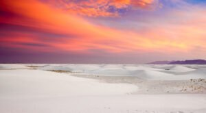 Named One Of The Best Places to Savor Sunsets, White Sands National Park In New Mexico Is Mesmerizing