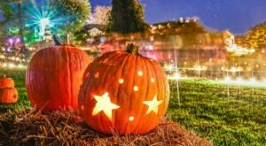 Hundreds Of Glowing Jack-O-Lanterns Will Adorn This Maryland Garden And It's A Festive Sight To See
