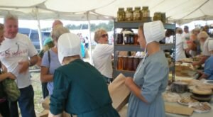 People Travel From All Over The State To Attend The Amish School Auction, Crafts & Antique Show In Oklahoma