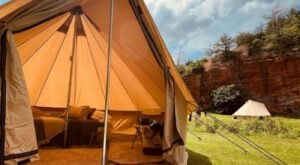 The New Glamping Experience At Red Rock Canyon Adventure Park In Oklahoma Is So Darn Cute