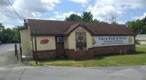 Escape To The Tropics At The Ocean-Themed Tiki Bar In West Virginia, Tiki's Pub & Grub