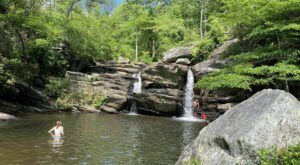 This 6-Mile Trail In Alabama Leads To A Double Waterfall And A Waterfall Swimming Hole