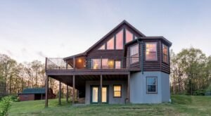 This Stunning Pennsylvania Airbnb Comes With Its Own Wraparound Deck For Taking In The Gorgeous Views