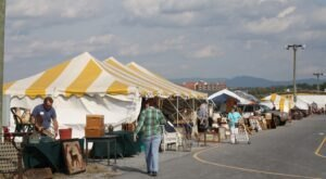 People Travel From All Over The State To Attend The Fishersville Antiques Expo In Virginia