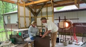 Make Your Own Blown Glass At The Hot Glass Studio On This One-Of-A-Kind Iowa Farm