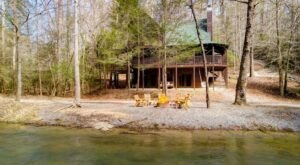 This Rental Cabin In Ellijay, Georgia Offers Private River Access From Your Backyard
