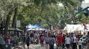 People Travel From All Over The State To Attend The Winter Park Autumn Art Festival In Florida