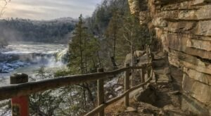 This Trail Leading To 2 Different Waterfalls In Kentucky Is Often Called TheNiagara Falls Of The South