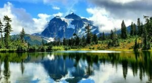 Picture Lake Path In Washington Leads To One Of The Most Scenic Views In The State