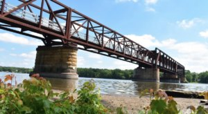 Rock Island Swing Bridge Is A Piece Of Minnesota History With A Beautiful View Of The Mississippi River