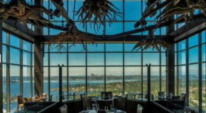 Dine High Above The Clouds At This Swanky Steakhouse In Washington