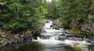 Be Sure To Watch Your Step On The Falls In The River Trail In New Hampshire