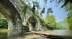 The One-Of-A-Kind Trail In Massachusetts With Arched Bridges And A River Is Quite The Hike