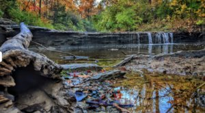 Angel Falls Is The Most Beautiful Waterfall In Kansas During The Fall