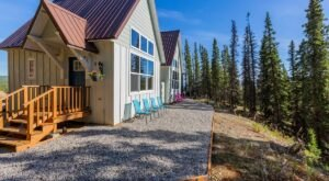 Autumn In Alaska Looks Mighty Good Outside Of These Floor To Ceiling Windows In This Cabin In Denali