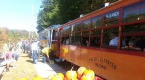 The Pumpkin Patch Trolley Train Ride In Maine Is Scenic And Fun For The Whole Family