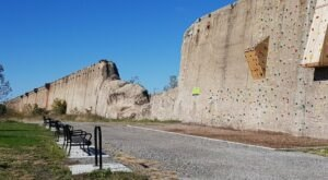 Go For A Hike And Then Rock Climbing On An Old Ore Wall At Steelworkers Park In Illinois