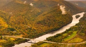 Hyner View Overlook Is A Short And Sweet Fall Hike In Pennsylvania With A Spectacular End View