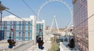 Fly From The Top Of A 12-Story Tower On The Fly LINQ Zipline In Nevada