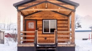 Escape To This Cozy Tiny Cabin In The Alaskan Winter Wonderland Of Valdez