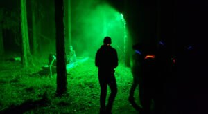 Take On Zombies In The Woods At Alabama's Butter And Egg Adventures For A Halloween Experience Like No Other