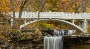 There's Nothing Quite As Magical As The Historic Bridge You'll Find At Minneopa Falls In Minnesota