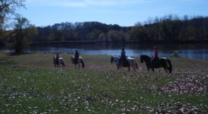 Take A Fall Trail Ride On Horseback At Cedar Valley Stables In Iowa