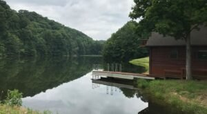 Enjoy Your Own Private Lake When You Spend The Night In This Quaint Indiana Cabin