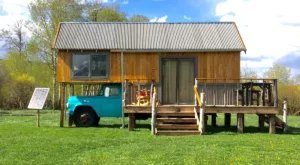 Stay In A Charming Montana Cottage With Its Own Private Vintage Truck Foundation