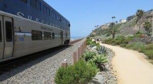 Stroll Alongside Railroad Tracks On The Beautiful San Clemente Beach Trail In Southern California