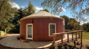 This Colorful Mountain Yurt In Virginia Features Its Very Own Stargazing Window And It's Downright Magical
