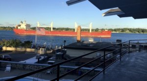 Watch Freighters Float By During Your Stay At This Peaceful Riverfront Hotel In Michigan