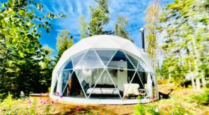 Spend The Night Stargazing In A Translucent Dome Near The North Shore In Minnesota