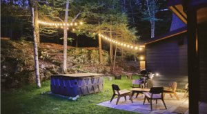 This 750-Foot Cabin Sitting On 3 Acres Of Maine Forest Is Perfect For A Winter Escape