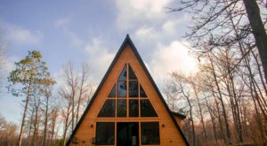 Book A Stay In This Modern A-Frame Cabin In The Woods For A Beautiful Fall Adventure In Northern Minnesota