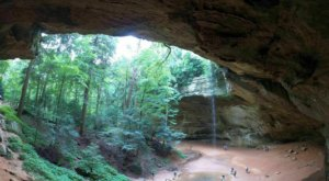 The Cave And Waterfall At The End Of The Ash Cave Trail In Ohio Are Truly Something To Marvel Over