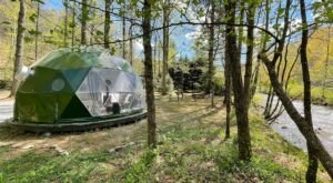 This Riverfront Geodome Will Take Your Georgia Glamping Experience To A Whole New Level