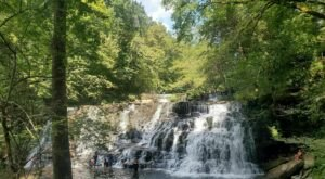 Take A Short Hike To A Stunning Waterfall On the Rutledge Falls Trail In Tennessee