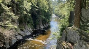 This Trail Leading To A Large Canyon Is Often Called The Grand Canyon Of Massachusetts