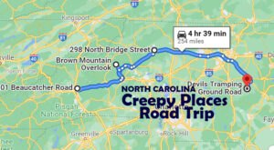 This Creepy Day Trip Through The Spookiest Places In North Carolina Is Perfect For Fall