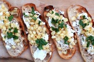 Grilled Corn Crostini's