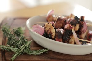 Peach & Red Onion Chicken Skewers