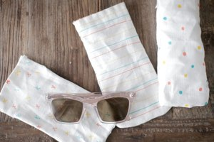 DIY Linen Sunglasses Case