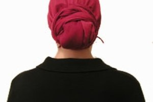 How to Tie a Headscarf in the Bun Style
