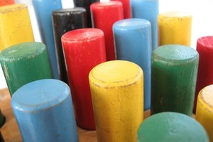Preschool teachers use a variety of items in the classroom, such as building blocks.